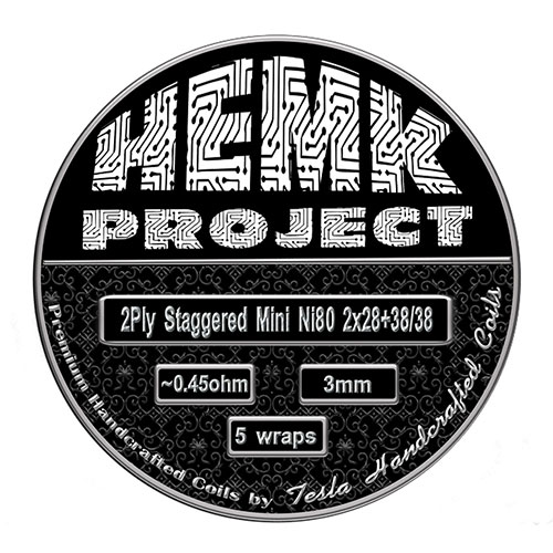 Hemk Project by Tesla Handcrafted Coils 2Ply Staggered Mini Ni80 0.45Ohm