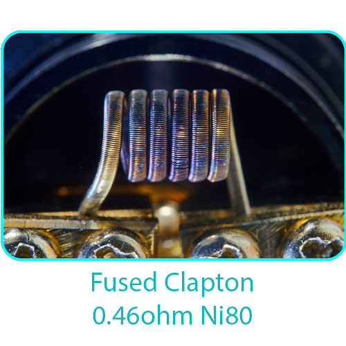 Tesla Handcrafted Coils Fused Clapton 0.46ohm Ni80
